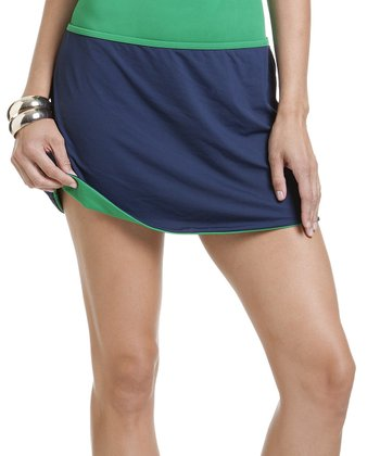Navy & Kelly Green Reversible Cover-Up