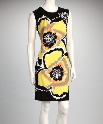 Yellow Flower Sleeveless Dress