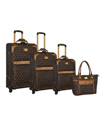 Brown Signature Four-piece Luggage Set