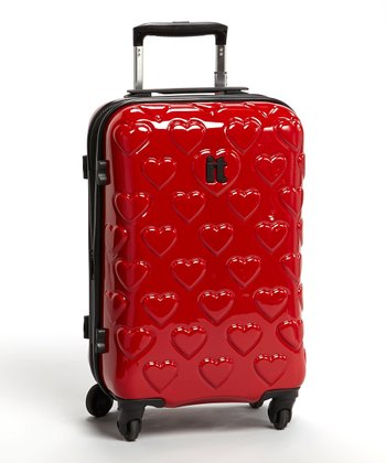 Hearts Four-Wheel Polycarbonate 22'' Expandable Carry On