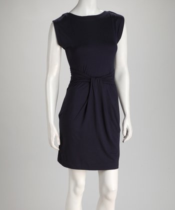 French Navy Pocket Sleeveless Dress