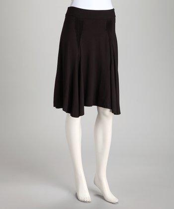 Black Pleat Skirt