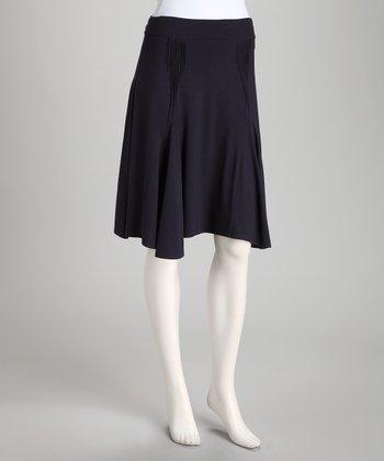 French Navy Pleat Skirt