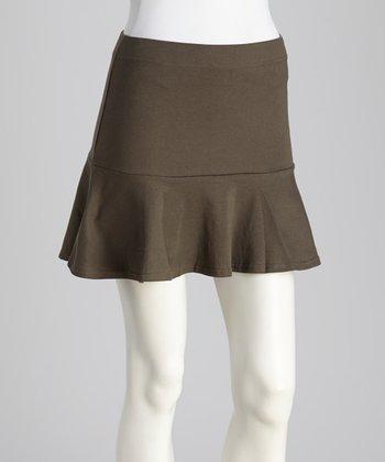 Gray Flare Hem Mini Skirt
