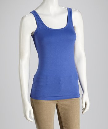 Periwinkle Scoop Neck Tank