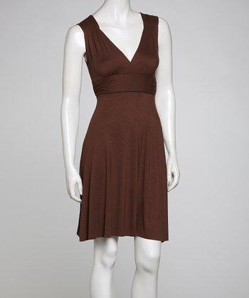 Bronze V-Neck Dress
