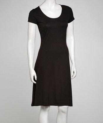 Black Classic Scoop Neck Dress