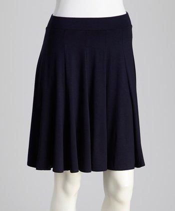 French Navy Skater Skirt