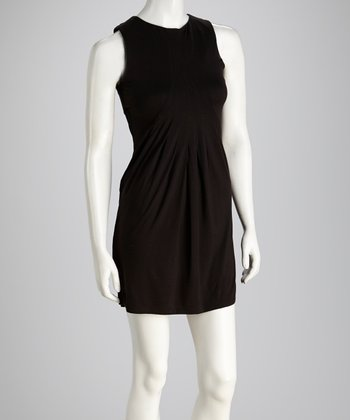 Black Pleat Sheath