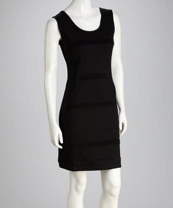 Black Scoop Neck Tank Dress
