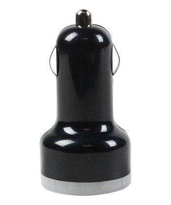 Black Dual USB Car Charger