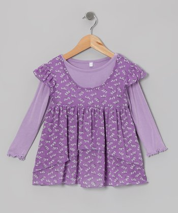 Purple Layered Top - Infant, Toddler & Girls
