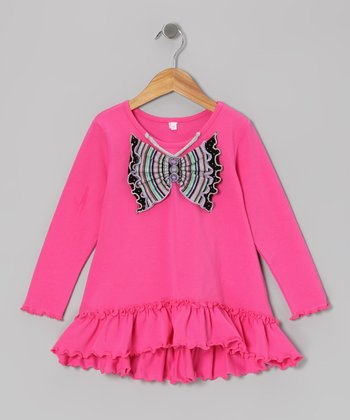 Hot Pink Butterfly Tunic - Infant & Toddler