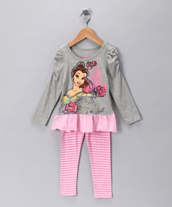 Heather Gray Belle Tunic & Leggings - Toddler