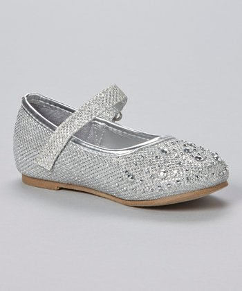 Silver Rhinestone Mary Jane