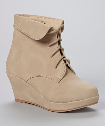 Beige Max Wedge Bootie