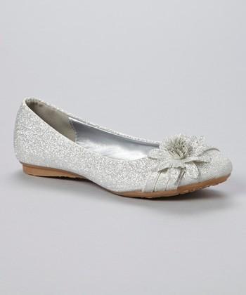Silver Glitter Smart Flat