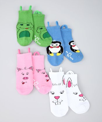 Mulitcolor Farm Friends Socks Set