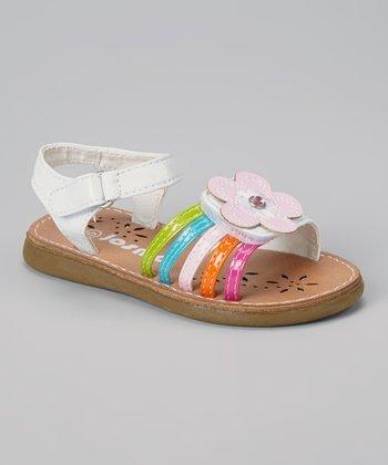 Josmo White Flower Gem Sandal