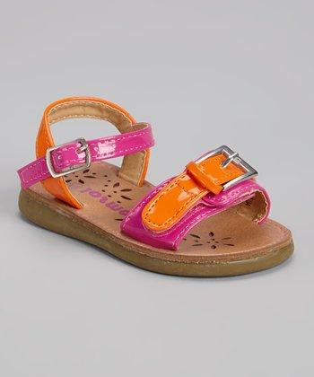 Josmo Fuchsia & Orange Buckle Sandal