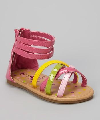 Rugged Bear Rainbow Ankle Strap Sandal