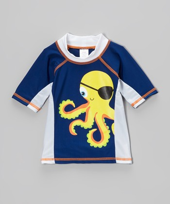Blue Pirate Octopus Rashguard - Infant, Toddler & Boys