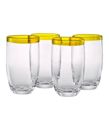 Sunflower Festival Highball Glass - Set of Four