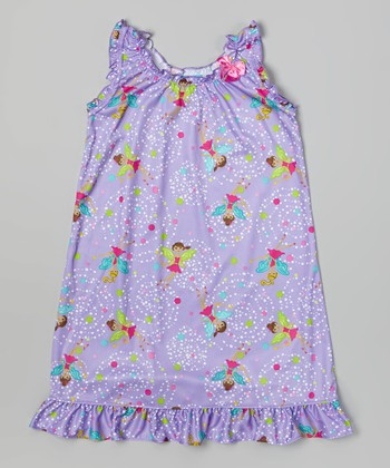Purple Fairy Nightgown - Toddler & Girls