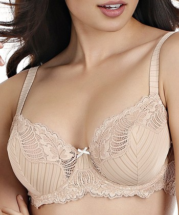 Fawn Stripe Lace Unlined Bra - Women & Plus