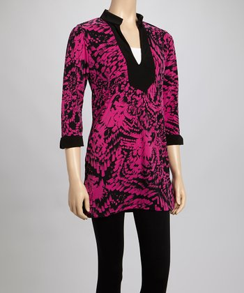 Purple Brushstroke Kent Tunic