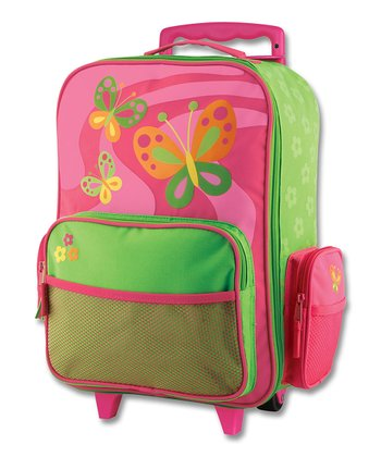 Mauve Butterfly Rolling Luggage