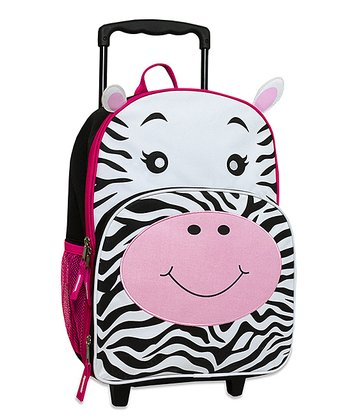 Zebra Rolling Backpack