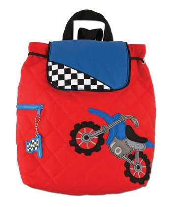 Red Motorcross Quilted Backpack