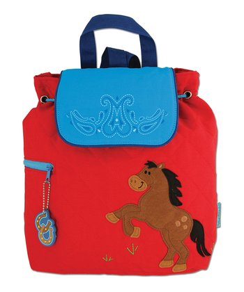 Red Horse Quilted Backpack