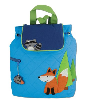Blue Fox Quilted Backpack
