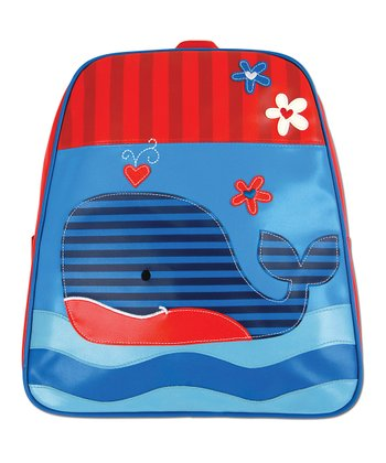 Red & Blue Whale Go-Go Backpack
