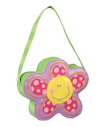 Green & Purple Flower Go-Go Purse