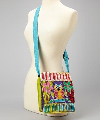 Blue & Purple Owl Crossbody Bag
