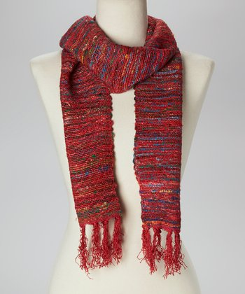 Red Wool Scarf