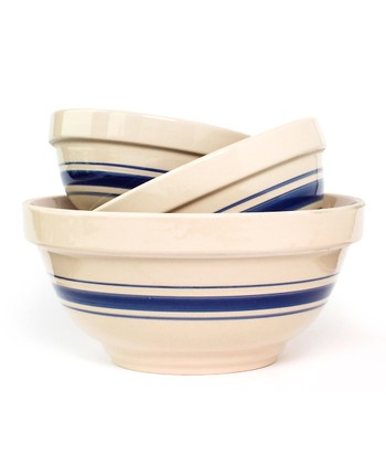 Blue Stripe Nesting Bowl Set