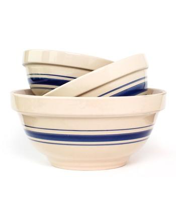 Old Mountain Blue Stripe Nesting Bowl Set