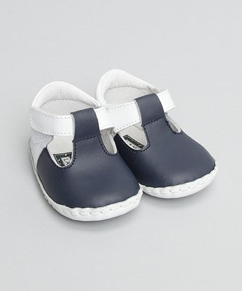 Navy T-Strap Shoe - Infant & Toddler