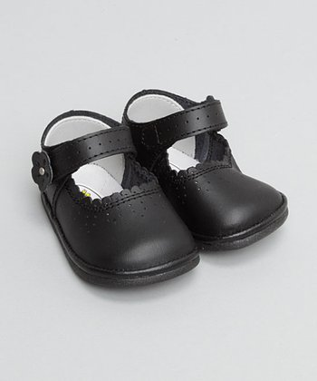 Black Perforated Mary Jane - Toddler