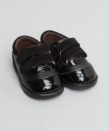 Black Patent Double-Strap Oxford