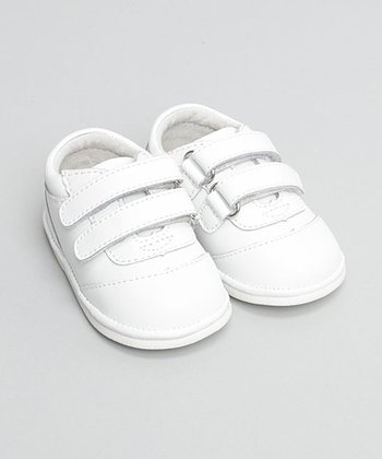 White Double-Strap Oxford Sneaker