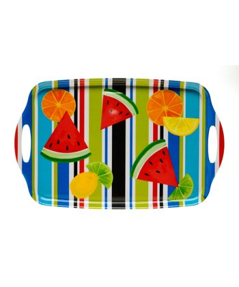 Fruit Splash Rectangle Handled Tray