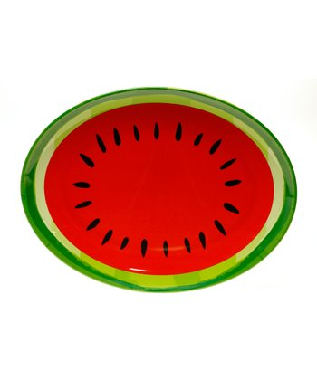 Fruit Splash Watermelon Oval Platter
