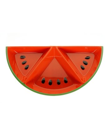 Fruit Splash Watermelon Three-Section Tray