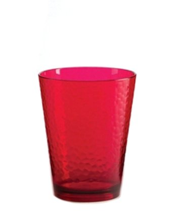 Ruby Hammered 16-Oz. Tumbler - Set of Six