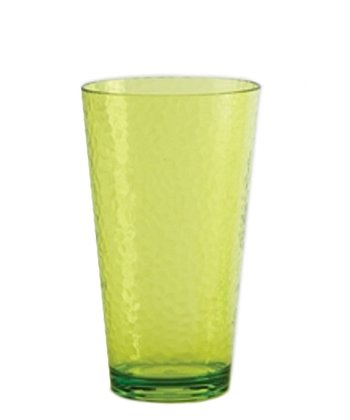 Lime Green Hammered 24-Oz. Iced Tea Glass - Set of Six